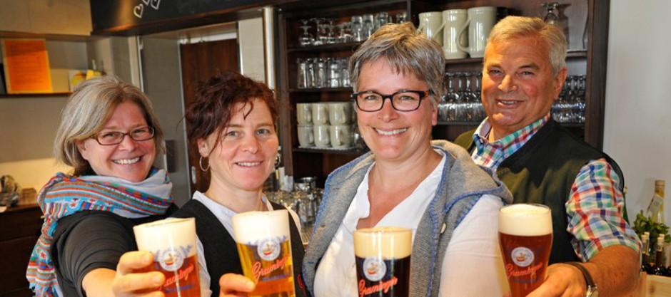 Biergarten Bayern Altötting Graming Privatbrauerei Braugasthof